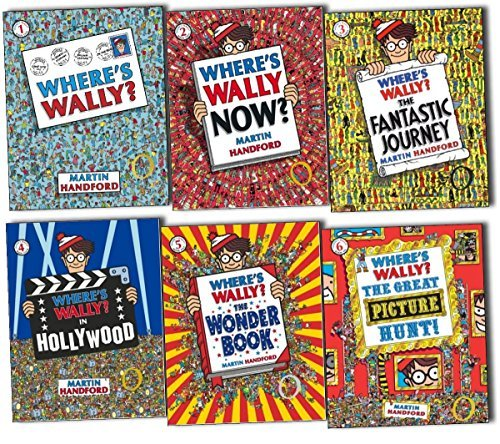 Where's Wally Books: 6 Spectacular large Picture Books Set (Where's Wally? Where's Wally in Hollywood / Where's Wally Now? The Great Picture Hunt / The Fantastic Journey / The Wonder Books rrp £41.94)