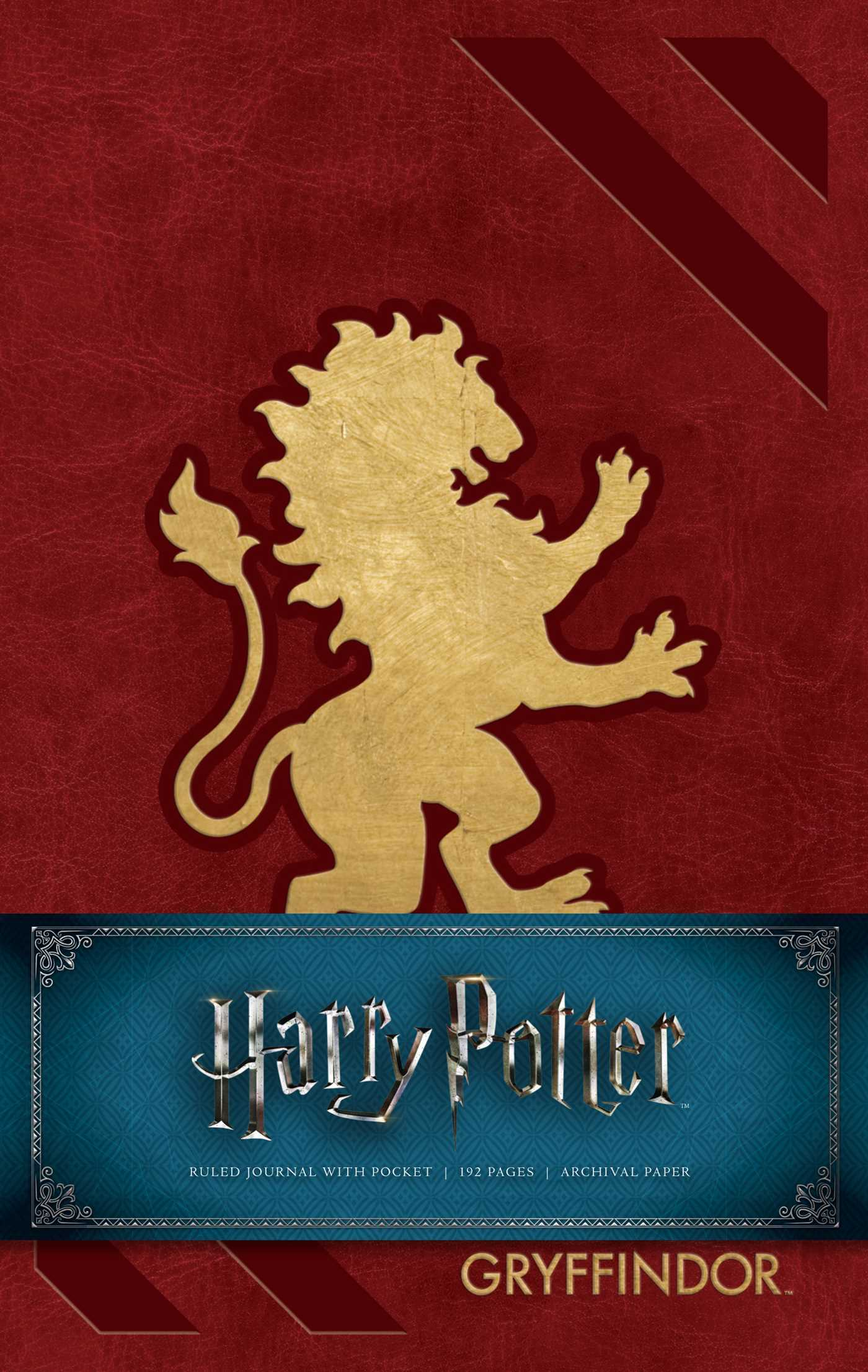 Harry Potter: Gryffindor Hardcover Ruled Journal