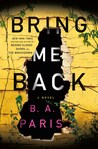 Bring Me Back by B.A. Paris audiobook
