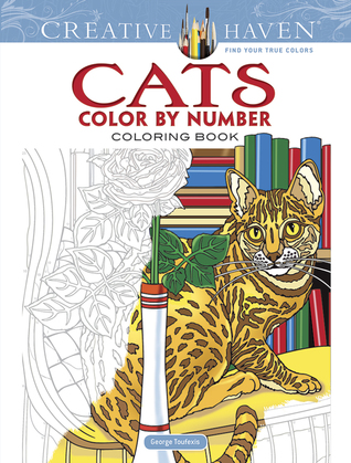 Creative Haven Cats Color By Number Coloring Book George Toufexis