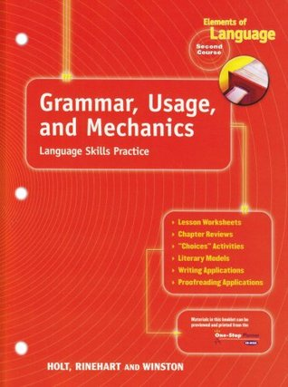 Grammar Usage And Mechanics Language Skills Practice For Chapters