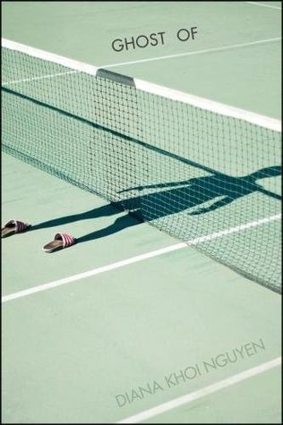 book cover showing a tennis court silhouette
