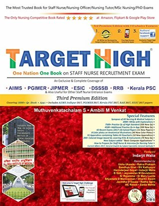 Target High: One Nation One Book on Staff Nurse Recruitment Exam