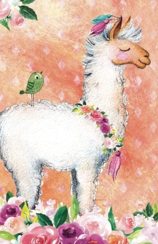 Journal Notebook For Animal Lovers Llama In Flowers: 162 Lined and Numbered Pages With Index Blank Journal For Journaling, Writing, Planning and Doodling. (Journal Notebook Lined) (Volume 20)