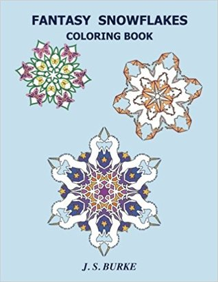 Fantasy Snowflakes Coloring Book