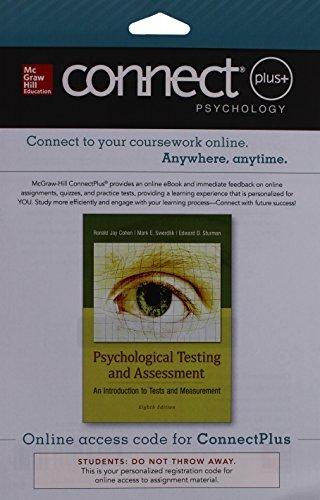Connect Access Card for Psychological Testing and Assessment - An Introduction to Tests & Measurement