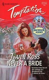 Never a Bride (Bachelor Arms, #1) by JoAnn Ross