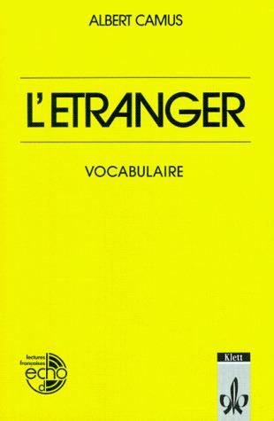 L'Étranger. Vocabulaire.
