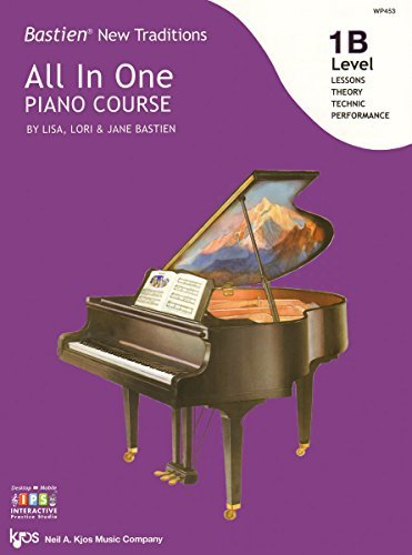 WP453 - Bastien New Traditions - All In One Piano Course - Level 1B