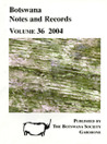 Botswana Notes and Records, Vol. 19