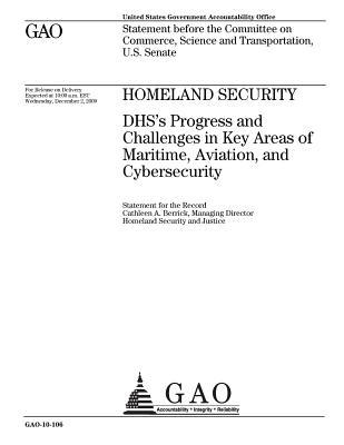 Homeland Security: Dhs's Progress and Challenges in Key Areas of Maritime, Aviation, and Cybersecurity: Statement Before the Committee on Commerce, Science, and Transportation, U.S. Senate