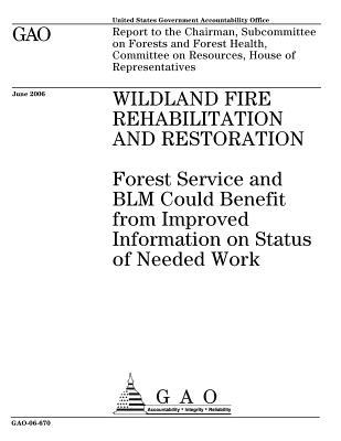 Wildland Fire Rehabilitation and Restoration: Forest Service and Blm Could Benefit from Improved Information on Status of Needed Work