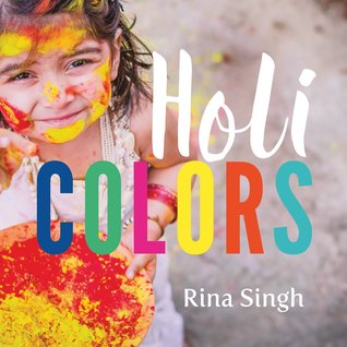 colour book cover of a holi festival