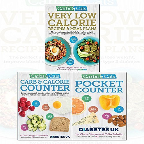 Carbs & Cals Very Low Calorie Recipes 3 Books Bundle Collection