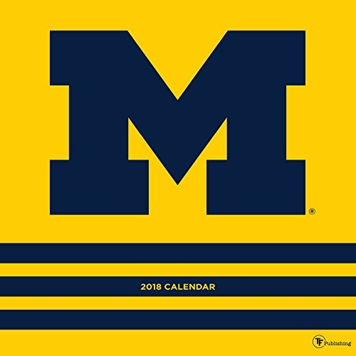 2018 University of Michigan Wall Calendar