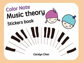 2-year-old children's music theory book: Music books designed for children older than 2 years old You can understand the note structure through cute drawings ... happily from the game (ColorNotes Book 1)