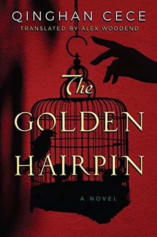 book cover of a golden birdcage being opened by a hand