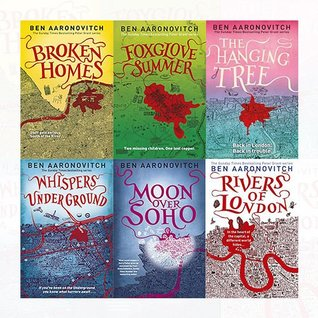 Rivers of London Series Ben Aaronovitch Collection 6 Books Bundle (The Hanging Tree, Foxglove Summer, Broken Homes, Whispers Under Ground, Moon Over Soho: 2, Rivers of London: 1)
