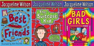 Jacqueline Wilson 3 book Collection: Bad Girls, Best Friends, The Suitcase Kid