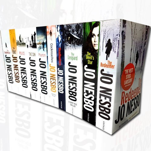 Jo Nesbo Collection Harry Hole thriller 10 Books Bundle (The Redeemer, The Devil's Star, The Leopard, Headhunters, Cockroaches, Phantom, The Son, Police, The Bat, The snowman)