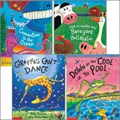 Rhyme and Repetition Collection (4 Books) (Commotion in the Ocean; Cock-a-Doodle-Doo! Barnyard Hullabaloo; Down by the Cool of the Pool; Giraffes Can't Dance)