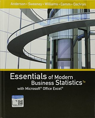 Bundle: Essentials of Modern Business Statistics with Microsoft Office Excel, 7th + XLSTAT Education Edition Printed Access Card + MindTap Business Statistics, 1 term (6 months) Printed Access Card