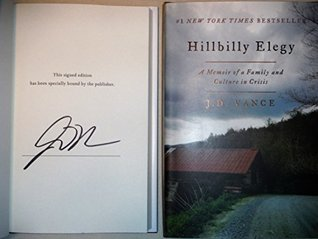 Hillbilly Elegy AUTOGRAPHED by J.D. Vance (SIGNED EDITION)