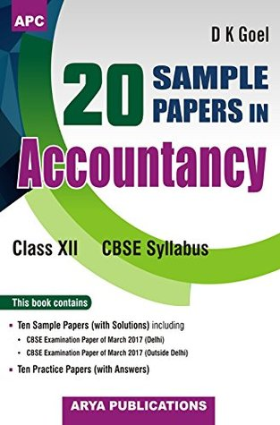20 Sample Papers in Accountancy Class - XII