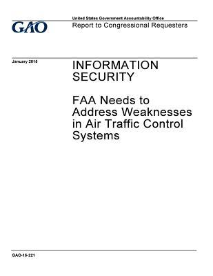 Information Security: FAA Needs to Address Weaknesses in Air Traffic Control Systems