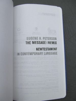 The Message Remix New Testament in Contemporary Language