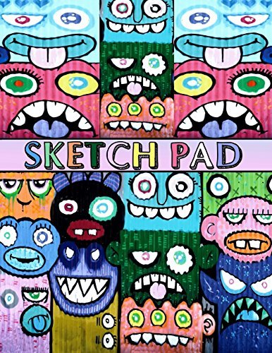 "Sketch Pad: Graffiti Art Cover - Sketch Book for kids and adults - Blank Drawing Pad to Practice How to Draw, Doodle and Color Extra Large 8.5"" x 11"""