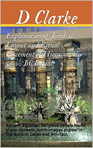 Explanation of Tomb 16 Layout and Ritual Placement of Hieraconpolis 5,600 BC Burial:: Ancient Egyptian Religious beliefs found in pre-dynastic tomb images appear in the Book of Gates and Am-Taut