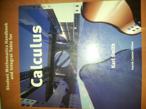 Student Survival & Solutions Manal, Calculus Fourth Edition (Calculus: A Texas Tech Custom Book, Fourth Edition)