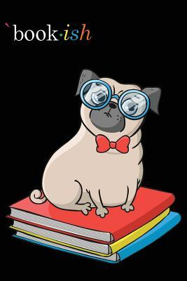 Journal Notebook for Dog Lovers Pug Sitting on Books: 110 Page Plain Blank Journal for Drawing, Writing, Doodling in Portable 6 X 9 Size