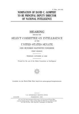 Nomination of David C. Gompert to Be Principal Deputy Director of National Intelligence
