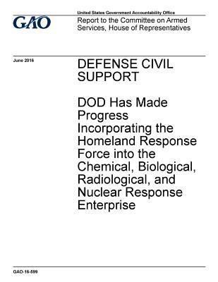 Defense Civil Support: Dod Has Made Progress Incorporating the Homeland Response Force Into the Chemical, Biological, Radiological, and Nuclear Response Enterprise