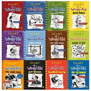 diary of a wimpy kid collection 12 books set (diary of a wimpy kid,rodrick rules,the last straw,dog days,the ugly truth,cabin fever,the third wheel,hard luck,the long haul,the getaway [hardcover]..