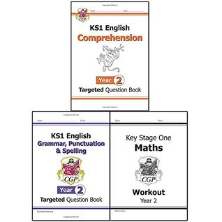 CGP Books KS1 New Curriculum Year 2 Collection 3 Books Set (New KS1 English Targeted Question Book Comprehension, Grammar, Punctuation & Spelling, KS1 Maths Workout)