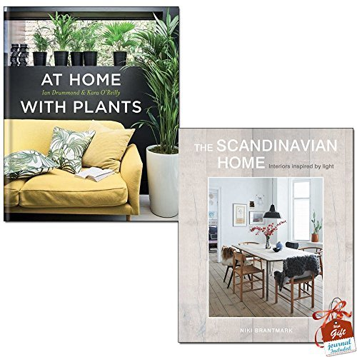 At Home with Plants and The Scandinavian Home 2 Books Bundle Collection With Gift Journal - Interiors inspired by light