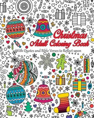 Christmas Adult Coloring Book With Quotes And Bible Verses To