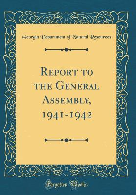 Report to the General Assembly, 1941-1942