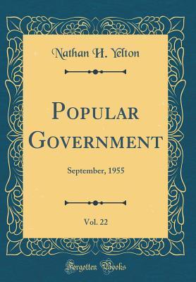 Popular Government, Vol. 22: September, 1955
