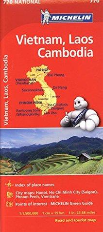 Michelin Vietnam Laos Cambodia Map # 770