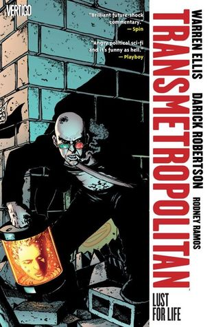 book cover for volume 2 of Transmetropolitan