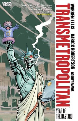 book cover for Transmetropolitan, volume 3