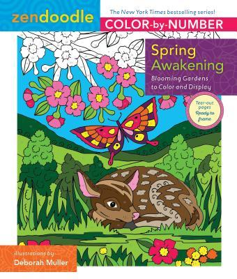 Zendoodle Color-By-Number: Spring Awakening: Blooming Gardens to Color and Display