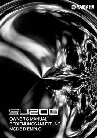 Yamaha SU200 Sampling Unit: Owner's Manual