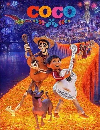 Coco: Disney-Pixar Coloring Book for Kids and Adults