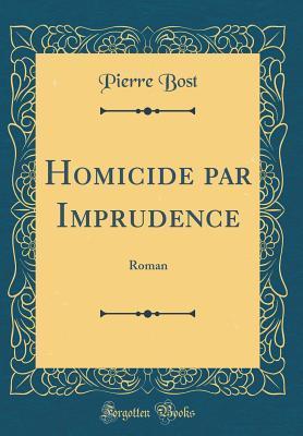 Homicide Par Imprudence: Roman