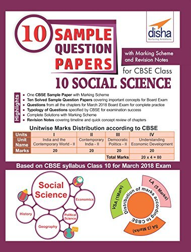 10 Sample Question Papers for CBSE Class 10 Social Science with Marking Scheme & Revision Notes